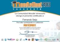 Certificado Digital Moodlemoot Venezuela 2013