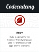 Codecademy Ruby badge